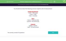 'Imperial Units of Measurements (1)' worksheet