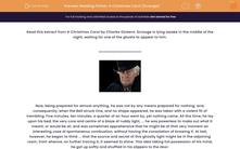 'Reading Fiction: A Christmas Carol (Scrooge)' worksheet