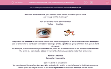 'Demonstrate Your Understanding of Antonyms' worksheet