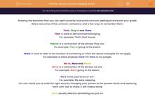'Revise Common Spelling Errors 1' worksheet