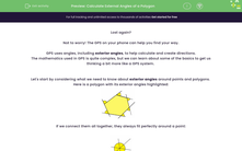 'Calculate External Angles of a Polygon' worksheet