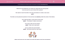 'Add a Letter to Create a New Word' worksheet