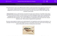 'Discuss the Evidence for Evolution' worksheet