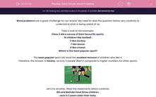 'Solve Simple Word Problems' worksheet