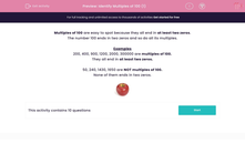 'Identify Multiples of 100 (1)' worksheet