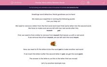 'Move Letters Between Words' worksheet
