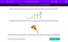 'The Plant Life Cycle' worksheet