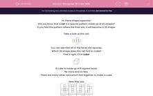 'Recognise 3D Cube Nets' worksheet