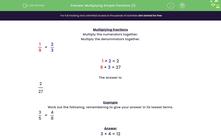 'Multiplying Simple Fractions (1)' worksheet