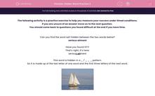 'Hidden Word Practice 2' worksheet