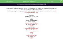 'Solve Equations (3)' worksheet