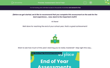 'Assessment: End of Year ' worksheet