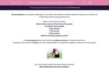 'Identify True or False Word Problem Statements' worksheet