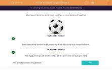 'Investigate Compound Words 2' worksheet