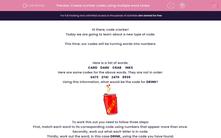 'Create number codes using multiple word codes' worksheet