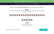 'Know Your Subtraction: Numbers from 0 to 20 with Pictures (2)' worksheet