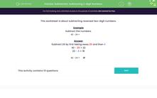 'Subtraction: Subtracting 2-digit Numbers' worksheet