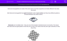 'Understand the Structures of Diamond and Graphite' worksheet