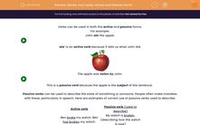 'Revise Your Verbs: Active and Passive Forms' worksheet