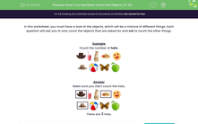 'Know Your Numbers: Count the Objects (0-10)' worksheet