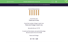 'Multiplication Arrays (3)' worksheet