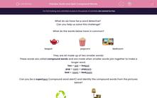 'Build and Split Compound Words' worksheet