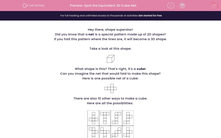 'Spot the Equivalent 3D Cube Net' worksheet