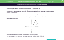 'Statistics: Plotting Points on X and Y Axes' worksheet
