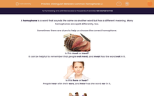 'Distinguish Between Common Homophones 2' worksheet