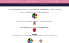 'Outcomes' worksheet
