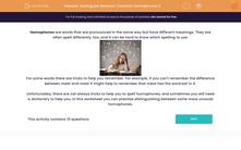 'Distinguish Between Common Homophones 3' worksheet