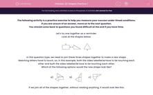 '2D Shapes Practice 1' worksheet