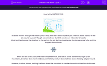 'The Water Cycle 2' worksheet