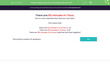 'Measuring Time: Counting the Minutes (2)' worksheet