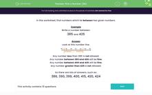 'Pick a Number (3b)' worksheet