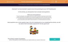 'Understanding Word Questions 2' worksheet