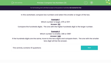 'Compare Two Numbers (3)' worksheet