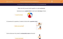 'Writing Words and Sentences 2 ' worksheet