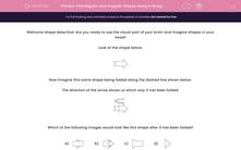'Fold Regular and Irregular Shapes Along a Straight Line Fold' worksheet