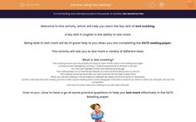 'Using Text Marking 1' worksheet