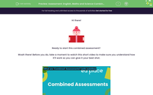 'Assessment: English, Maths and Science Combined (Y1)' worksheet