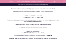 'Substitute Numbers for Letters in Complex Calculations (No Division) ' worksheet