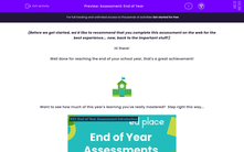 'Assessment: End of Year' worksheet