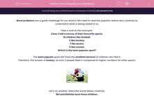 'Solve Complex Word Problems' worksheet