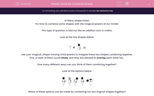 'Solve the Combined Shapes' worksheet