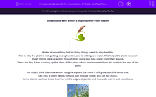'Understand the Importance of Water for Plant Health' worksheet