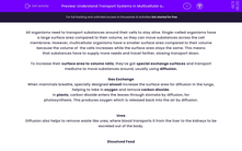 'Understand Transport Systems in Multicellular and Single-Celled Organisms' worksheet