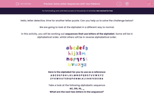 'Solve Letter Sequences with Two Patterns' worksheet