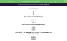 'Recognising Quarters (2)' worksheet