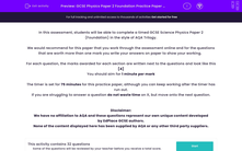 'GCSE Physics Paper 2 Foundation Practice Paper in the Style of AQA Trilogy' worksheet